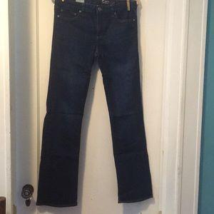 Gap Perfect Boot dark blue denim jeans 28r